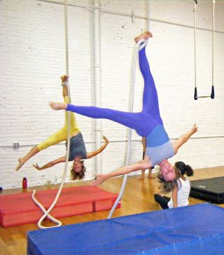 Kory Aversa Philadelphia School Circus Arts Aerials Rope Fabric Silks