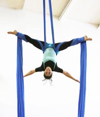 Kory Aversa Fabric Silk Pink Philadelphia School of Circus Arts
