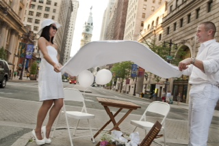 Diner En Blanc, Philadelphia, Aversa PR, Philly, Food, Festival, Picnic, Summer, 2012