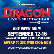 How to Train Dragon 1, live, spectacular, wells fargo, philly loves fun, comcasttix, discount, philly, discount 25%